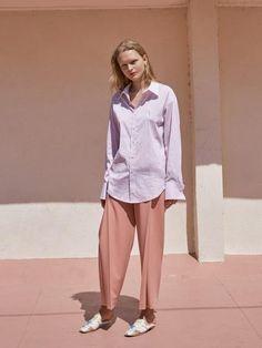Side Tuck Slacks Pink