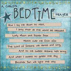 A Pagan Bedtime Prayer.....