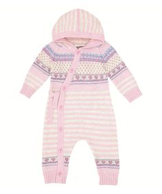 Take a look at this Pink Fair Isle Wrap Playsuit - Infant on zulily today!