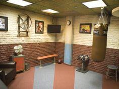 Vintage-Fitness Studio im Keller | with Pin-It-Button on http://wohnideen.minimalisti.com/innendesign/keller-einrichten-raumausstattung.html
