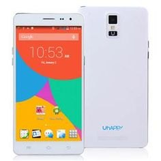 Uhappy UP550 MTK6582 Quad Core 1.3GHz 5.5Inch Android4.4.2 Smartphone 1GB RAM 16GB ROM IPS HD 13.0MP 3G/GPS - White
