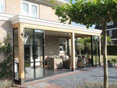 Pergola Patio, Diy Patio, Gazebo, Backyard, Outdoor Rooms, Outdoor Decor, Glass Extension, House Goals, Windows And Doors