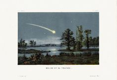 1877 Amazing Antique ASTRONOMY print by TwoCatsAntiquePrints, $49.00