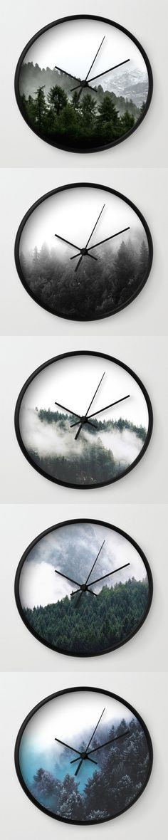 Modern Forest Wall Clocks by Neptune Essentials on Society6 Home Decor, Wall Decor, Wall Clocks, Hanging Clocks, Minimalist Clocks, Modern Designs, Decor Ideas, Bedroom Decor, Living Room Decor, Kitchen Ideas, Trends, Scandinavian, Nordic Designs
