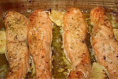 Lombos de salmão no forno Uma excelente receita para fazer quando temos pouco tempo.