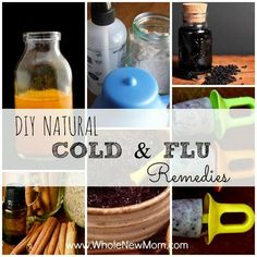 """These DIY Natural Cold Remedies and Natural Flu Remedies will help you and your family keep from getting sick and feel better should you catch a """"bug."""""""