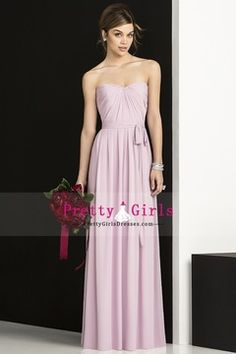 2013 Chic Bridesmaid Dresses Sweetheart A Line Floor Length With Sash/Ribbon Ruffles Chiffon USD 119.99 PGDPEHXC9FJ - PrettyGirlsDresses.com