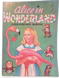 Alice in Wonderland colouring book