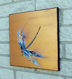 Check out this item in my Etsy shop https://www.etsy.com/listing/263055576/dragonfly-painting-original-palette