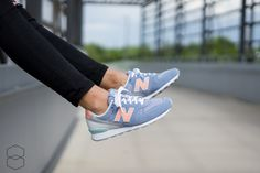 "***NEW - LADIES*** New Balance WR996 ""blue/apricot"" 