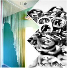 Candoodles: Upcycle: Soda can tabs = Pop Curtain