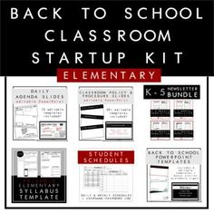 Back to school slide deck and station signs, student information sheet, syllabus, student schedules, weekly and monthly newsletters, daily agenda slides, classroom policy and procedures, and more FREEBIES included! #backtoschool #backtoschoolnight #elementaryteachers #newsletters #studentschedules #syllabus #dailyagenda #classroommanagement #teacherresources #prek #k #firstgrade #specialeducation #specialneeds #underratedteacher #theunderratedteacher #tpt  #distancelearning #virtuallearning