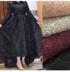 No photo description available. Hijab Prom Dress, Hijab Evening Dress, Evening Dresses, Modest Fashion Hijab, Fashion Dresses, Dress Outfits, Stylish Dress Designs, Stylish Dresses, Moslem Fashion