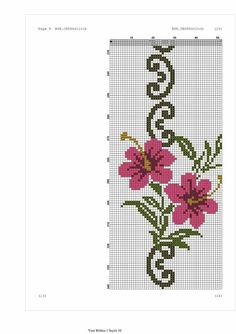 This Pin was discovered by Arz Cross Stitch Boards, Cross Stitch Heart, Cross Stitch Flowers, Cross Stitching, Cross Stitch Embroidery, Hand Embroidery, Cross Stitch Patterns, Palestinian Embroidery, Floral Border