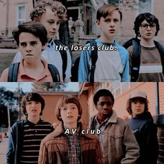 IT X st. Which club would you like to join? I love the AV club but the losers are iconic icons who Are all adorable as heck. Serie Stranger Things, Stranger Things Season, It Movie 2017 Cast, Movie Tv, 2017 Memes, Pennywise The Dancing Clown, It Pennywise, M Jack, Badass Movie