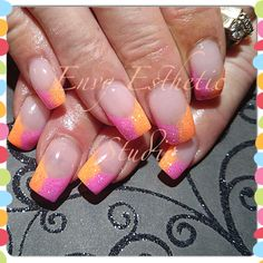 #neonnails #nailart #summernails #nails