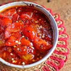 A sweet and savory Bengali tomato chutney, with loads of flavor from whole spices, fall tomatoes and ginger. Veg Recipes, Indian Food Recipes, Vegetarian Recipes, Cooking Recipes, Ethnic Recipes, Recipies, Baker Recipes, Vegetarian Cooking, Curry Recipes