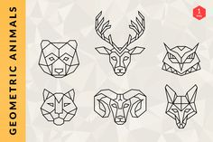 geometric animal outline - Google Search