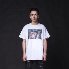 Manna Lost T-shirt  White Skate Streetwear by MannaClothing