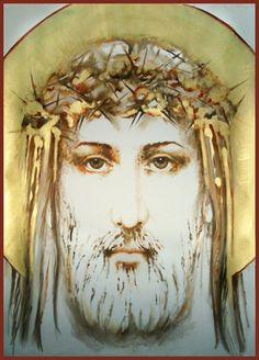 This was done as a modern interpretation of Christ with the crown of thorns.