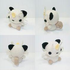 Meowth is now available and READY TO SHIP! Link to shop in profile.  #crochet #adorable #amigurumi #pokemon #kawaii #chibi #meowth #heartstringcrochet #bigCartel #myoriginaldesign by heartstringcrochet