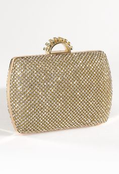 Rhinestone Box Bag with Half Moon Top Closure from Camille La Vie and Group USA