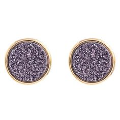 Surprise, these will go with everything: Marcia Moran Purple Drusy Stud Earrings.
