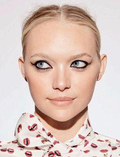 Gemma Ward wears bold eyeshadow look