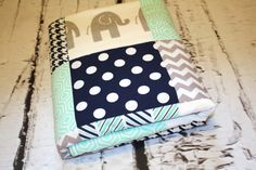 Hey, I found this really awesome Etsy listing at https://www.etsy.com/listing/238512725/elephant-baby-quilt-modern-minky-quilt