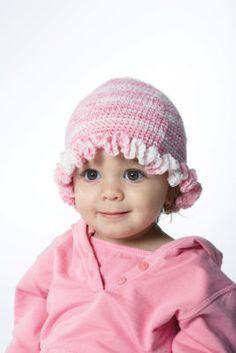 Bernat® Baby Jacquards Crochet Ruffle Hat