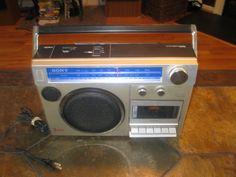 VINTAGE SONY STEREO CASSETTE GHETTOBLASTER BOOMBOX CFM-200 #Sony