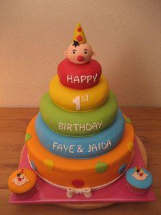 Bumba stapelring taart 1e verjaardag