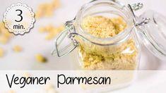 Veganer Parmesan - Rezept von 5 Minute Recipes Snacks, Breakfast, Food, Youtube, Dips, Vegan Parmesan Cheese, Parmesan Recipes, Vegan Recipes, Daily Vitamins