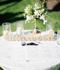 Freestanding Guestbook Wedding Table Sign | Handmade Wedding Decor & Gifts at www.ZCreateDesign.com... or shop ZCreateDesign on Etsy #guestbook #wedding #weddingdecor