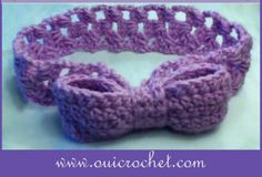 Super Pretty Bow Headband ~ UPDATED JAN. 20, 2017 ~ easy level ~ FREE - CROCHET