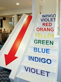 The slide would be fun!  Color Coded  - Step Up Your Staircase Design on HGTV