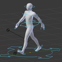 Create an Animation Walk Cycle in Blender using Rigify