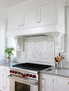 Soothing White and Gray Kitchen Remodel - transitional - Kitchen - Chicago - Normandy Remodeling Kitchen Tile, Kitchen Redo, New Kitchen, Kitchen Cabinets, White Cabinets, Kitchen Countertops, Kitchen Ideas, Traditional Kitchen Backsplash, Ranch Kitchen