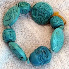 armband_01_009 Turquoise Bracelet, Bracelets, Jewelry, Semi Precious Beads, Handmade, Wristlets, Schmuck, Gifts, Jewlery