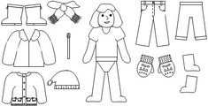 """Printable Story Retelling pieces for the book """"The Jacket I Wear in the Snow"""" from Making Learning Fun"""