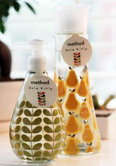 Limited Edition Orla Kiely + Method Collection product, pink and gold packaging, soap design, packaging green, method collect, orla kiely, orla kieli, limit edit, edit orla