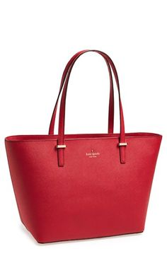 love this elegant red kate spade tote and it's on sale! http://rstyle.me/n/ucwymr9te