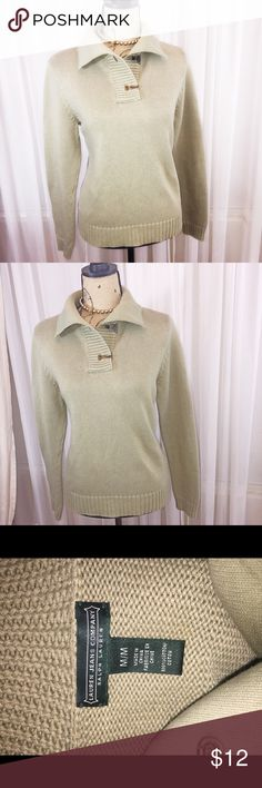Ralph Lauren cotton knit sweater Sage green sweater. High neck. Thick cozy knit sweater. Interesting latch hardware Ralph Lauren Sweaters