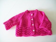 Hand Knit Baby Sweater by individualababy on Etsy