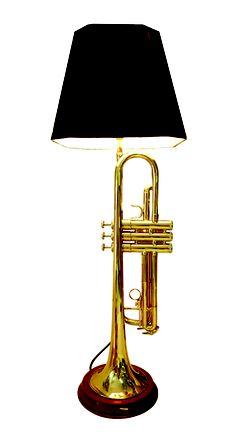 trumpet lamp - my son's room