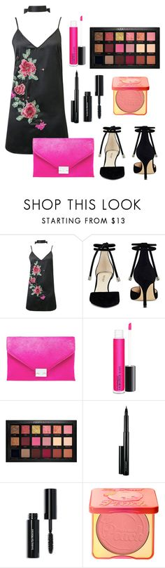 """Untitled #659"" by natalia-tommo ❤ liked on Polyvore featuring WithChic, Nine West, Loeffler Randall, MAC Cosmetics, Huda Beauty, Bobbi Brown Cosmetics and Too Faced Cosmetics"
