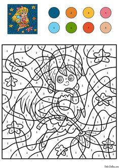 Najlepsze Obrazy Na Tablicy Pokoloruj Według Kodu 187 Coloring