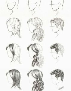 How To Draw Hair- Yes Please!!! :) More Hair Drawing Stuff.  #drawhair…
