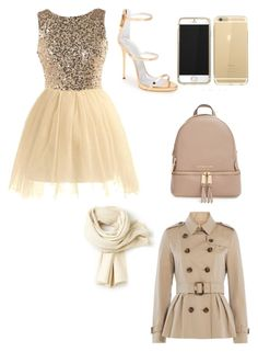 """""""Tis the season"""" by dopelilstylist12 ❤ liked on Polyvore featuring Giuseppe Zanotti, MICHAEL Michael Kors, Lacoste and Burberry"""