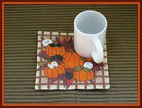 Linda Walsh Originals Fabric Designs: Gotta Love Fall Themed Mug Rugs